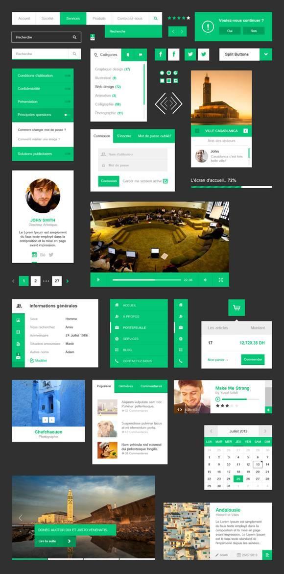 20组清新的UI设计模板免费下载