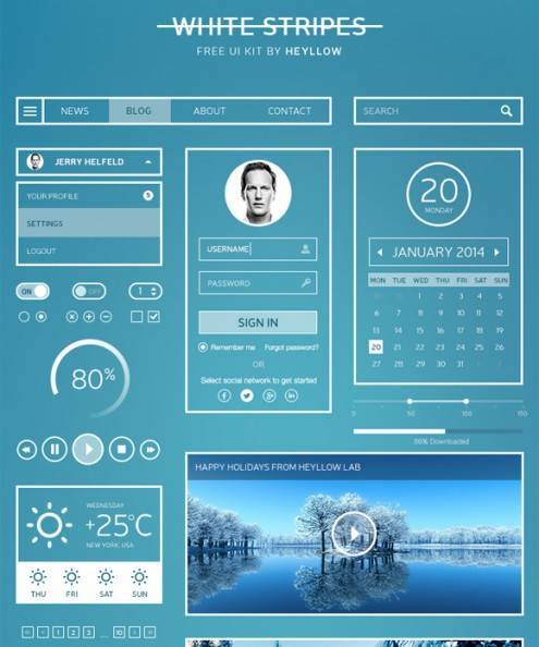 4-flat-UI-designs-download-free-PSD