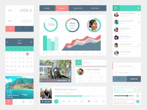 9-flat-UI-designs-download-free-PSD
