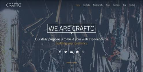 Crafto-One-Page-Responsive-Template
