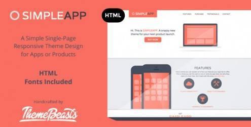SimpleApp-App-Landing-Page