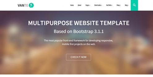 VANTE5-Multipurpose-Bootstrap-Template