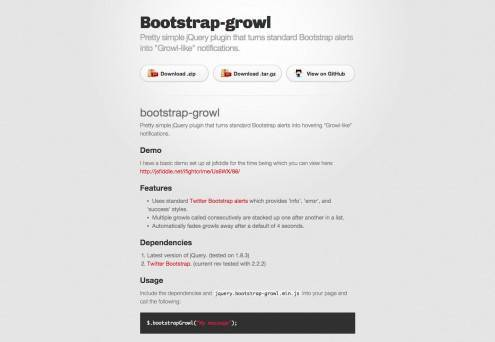 bootstrapgrowl