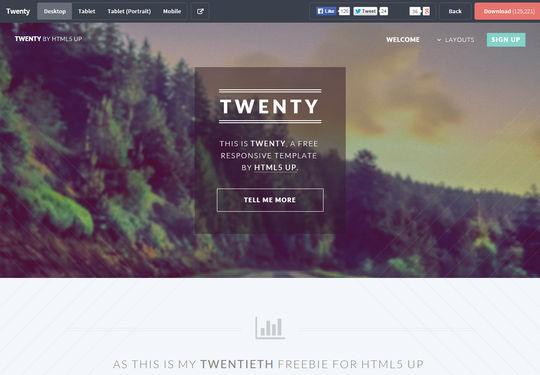 12+个新鲜免费的HTML/CSS & PSD模板