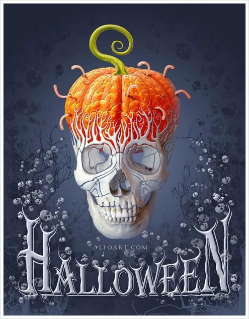 Halloween card by Alfoart